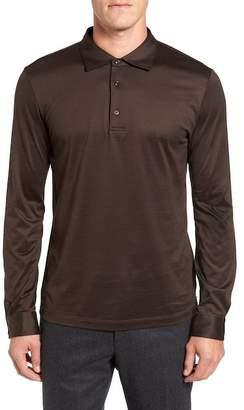 Pal Zileri Long Sleeve Mercerized Jersey Polo