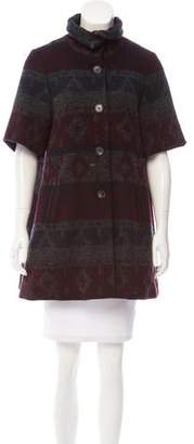Opening Ceremony Wool Short Sleeve Coat