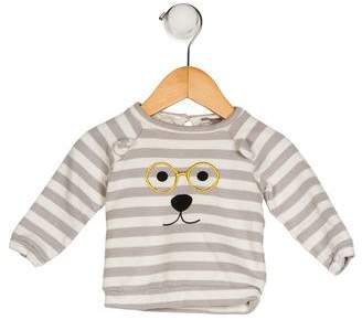 Emile et Ida Boys' Printed Stripe Sweater
