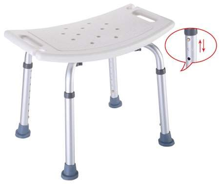 BackerJamison Height Adjustable Bath Tub Safety Shower Stool Chair Seat Bench Non Slip Bath Aid Chair Home Health Care Tool