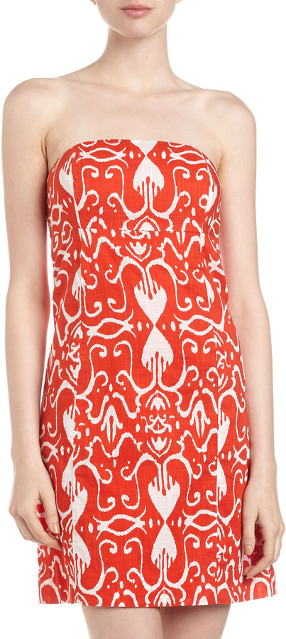 Arabella Sheridan French Strapless Dress, Red Heart