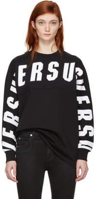 Versus Black Oversize Logo Sweatshirt