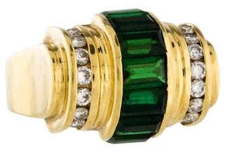 Lagos 18K Tourmaline & Diamond Cocktail Ring