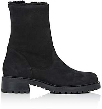 Barneys New York Women's Shearling-Lined Side-Zip Ankle Boots - Black