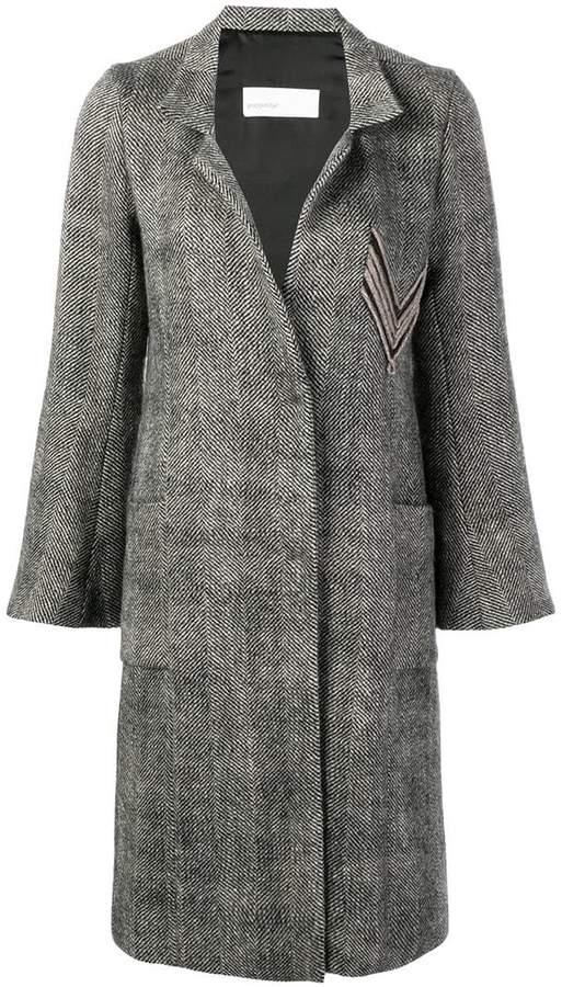 Gentry Portofino chevron coat