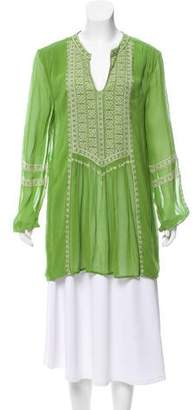 Tolani Embroidered Long Sleeve Tunic