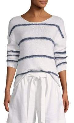St. John Textured-Stripe Sweater