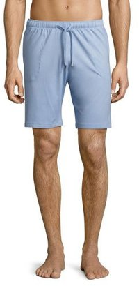 Derek Rose Basel Jersey Lounge Shorts, French Blue $95 thestylecure.com