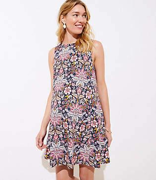 LOFT Petite Maternity Paisley Floral Sleeveless Swing Dress