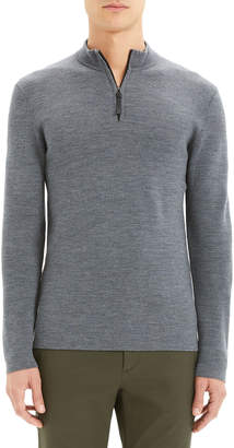Theory Men's Detroe Milos Quarter-Zip Wool Sweater