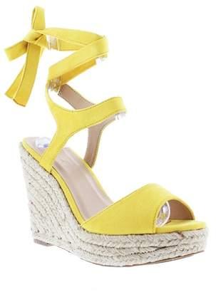 Liliana Elfonso Wrap-Around Ankle Wedge Platform Sandal