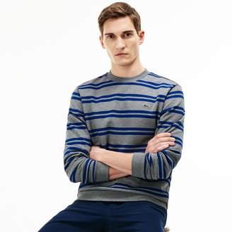 Lacoste Men's Nautical Stripe Brushed Fleece Sweatshirt