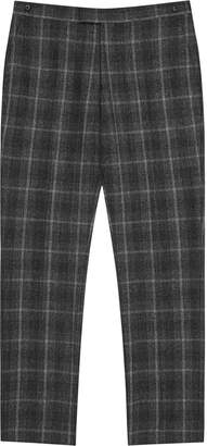 Reiss Bondi - Slim Fit Checked Trousers in Charcoal