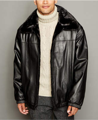 The Fur Vault Reversible Mink Fur Leather Bomber Jacket