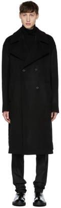 Yang Li Black Oversized Wool Coat