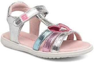 Agatha Ruiz De La Prada Kids's Beauty 3 Strap Sandals in Silver