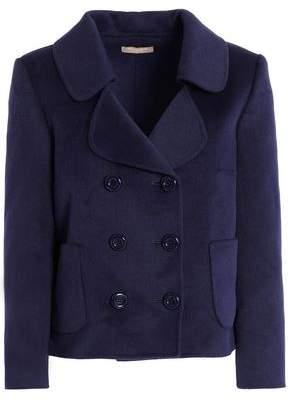 Michael Kors Double-Breasted Wool Angora And Cashgora-Blend Coat