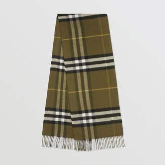 Burberry The Classic Check Cashmere Scarf, Green