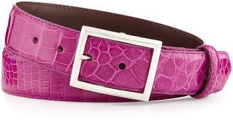 W.KLEINBERG W. Kleinberg Glazed Alligator Belt with