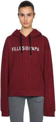 Filles a papa Logo Print Crystal Sweatshirt Hoodie