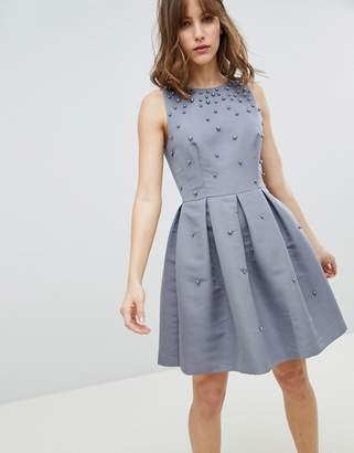 Ted Baker Tie The Knot Pearl Embellished Skater Bridesmaid Dress
