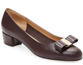 Salvatore Ferragamo Vara Leather Ballet Flat