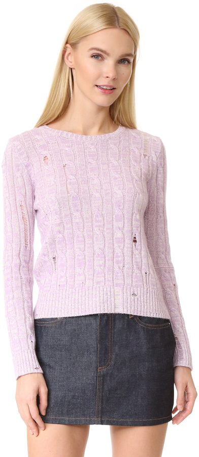 Marc JacobsMarc Jacobs Marled Cable Crew Sweater