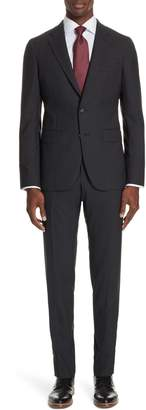 Boglioli Milano Trim Fit Solid Wool Suit