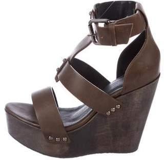 AllSaints Platform Wedge Sandals