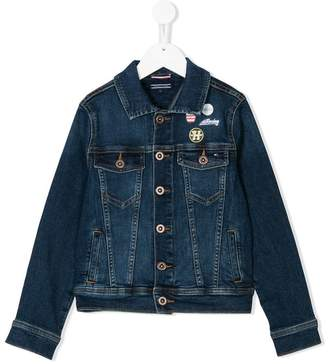 Tommy Hilfiger Junior patch-detailed denim jacket