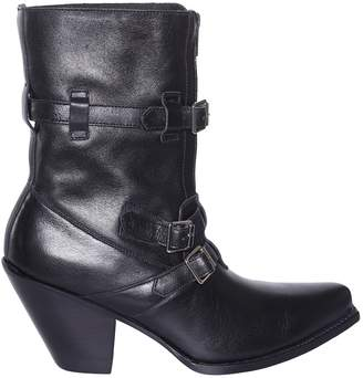 Celine Multi Buckle Ankle Boots