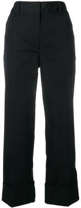 Prada cropped straight leg trousers