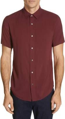 Emporio Armani Trim Fit Short Sleeve Dress Shirt