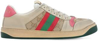Gucci 20mm Screener Gg Leather Sneakers