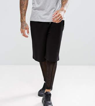 Asos DESIGN Oversized Shorts With Mesh Megging Layer