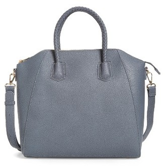 Sole Society Giada Braided Faux Leather Satchel - Grey $69.95 thestylecure.com