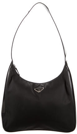 prada Prada Tessuto & Patent Leather Hobo
