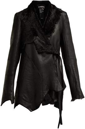 Ann Demeulemeester Amrita shearling wrap jacket