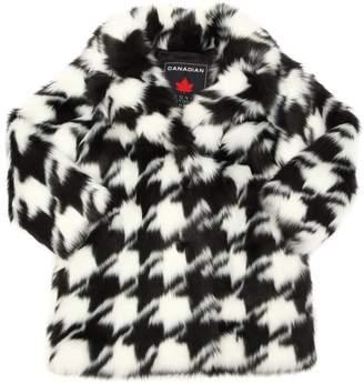 Printed Faux Fur Coat