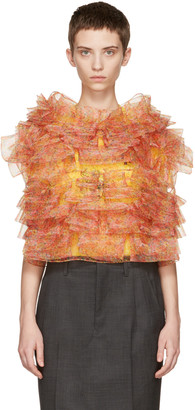 Junya Watanabe Pink Ruffled Floral Blouse $2,680 thestylecure.com