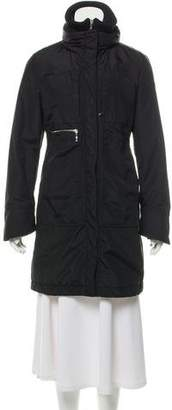 Post Card Knee-Length Puffer Coat