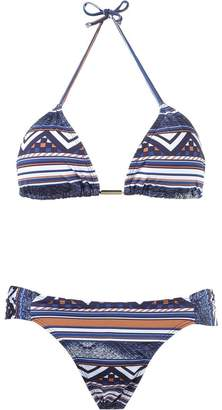 BRIGITTE geometric print triangle top bikini set