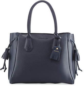 Longchamp Pénélope Leather Tote Bag, Midnight Blue