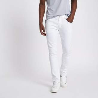 River Island White Eddy skinny fit jeans