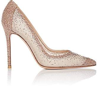 Gianvito Rossi Women's Rania Mesh & Suede Pumps - Toast