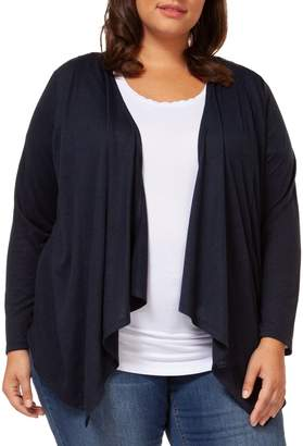 Dex Plus Draped Front Cardigan