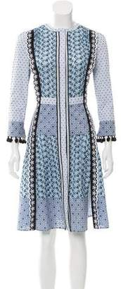 Altuzarra Eyelet Long Sleeve Dress