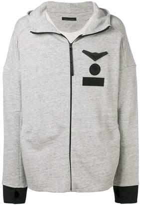 Frankie Morello logo patch hoodie