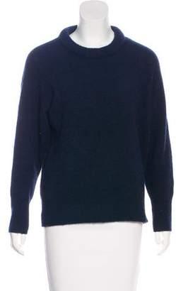 Etoile Isabel Marant Rib Knit Trim Crew Neck Sweater