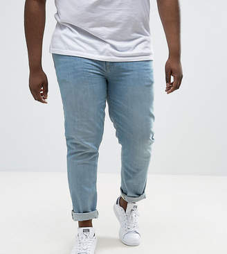 Asos Design PLUS Skinny Jeans In Light Wash